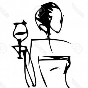 300x300 Silhouette Of Elegant Woman In Dress Vector Clipart Createmepink