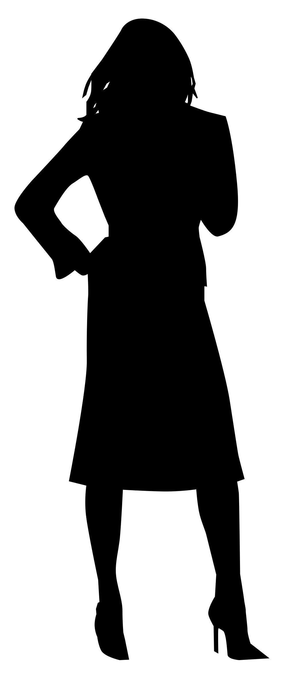 1023x2400 Woman Silhouette Icons Png
