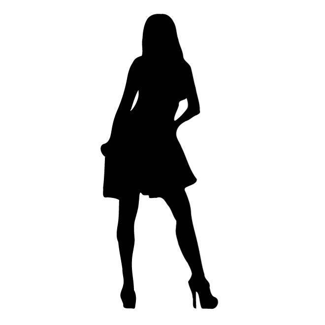 660x660 Elegant Lady Silhouette