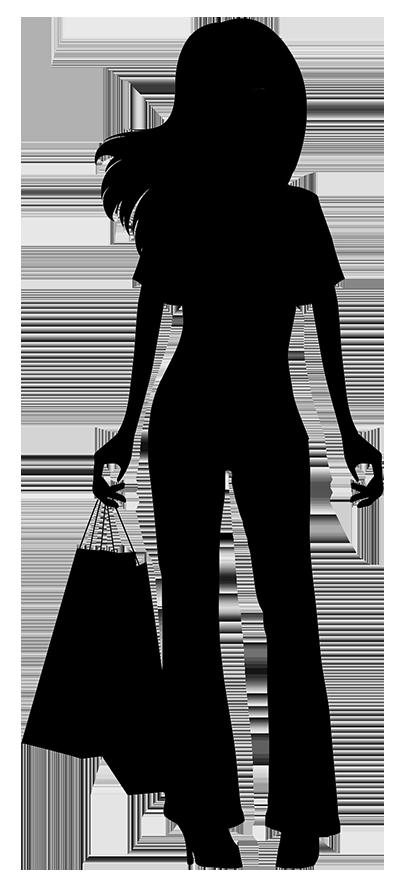408x886 Shopping Silhouette Woman Clip Art