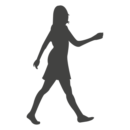 512x512 Woman Walking Rush Silhouette
