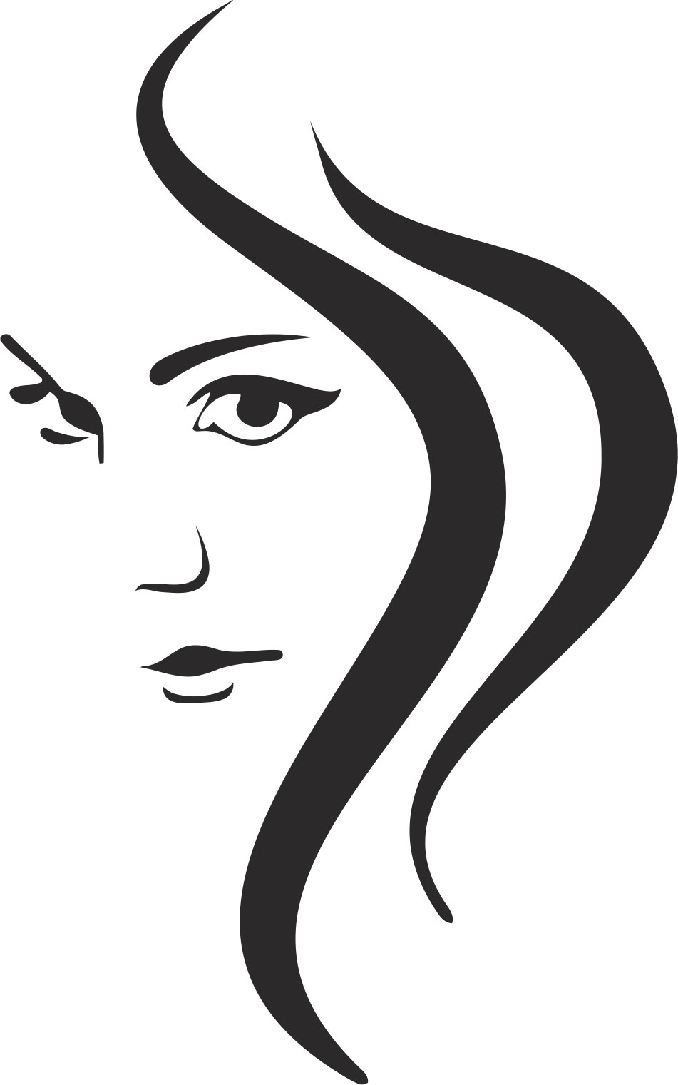 951x1521 Woman Silhouette Coreldraw Vector (.cdr) File Free Download