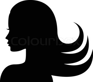 320x283 Beautiful Woman With Floral Decorative Pattern Stock Vector
