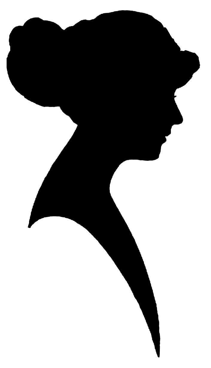 705x1226 Face Profile Silhouette Clip Art