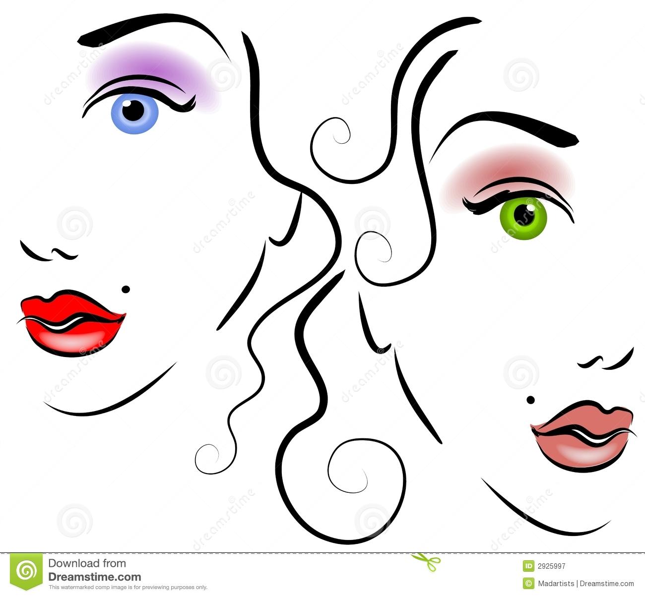 1300x1204 Face Clipart Women'S