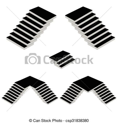 450x470 Stairs Vector Silhouette. Stairs Cartoon Vector Silhouette Vector