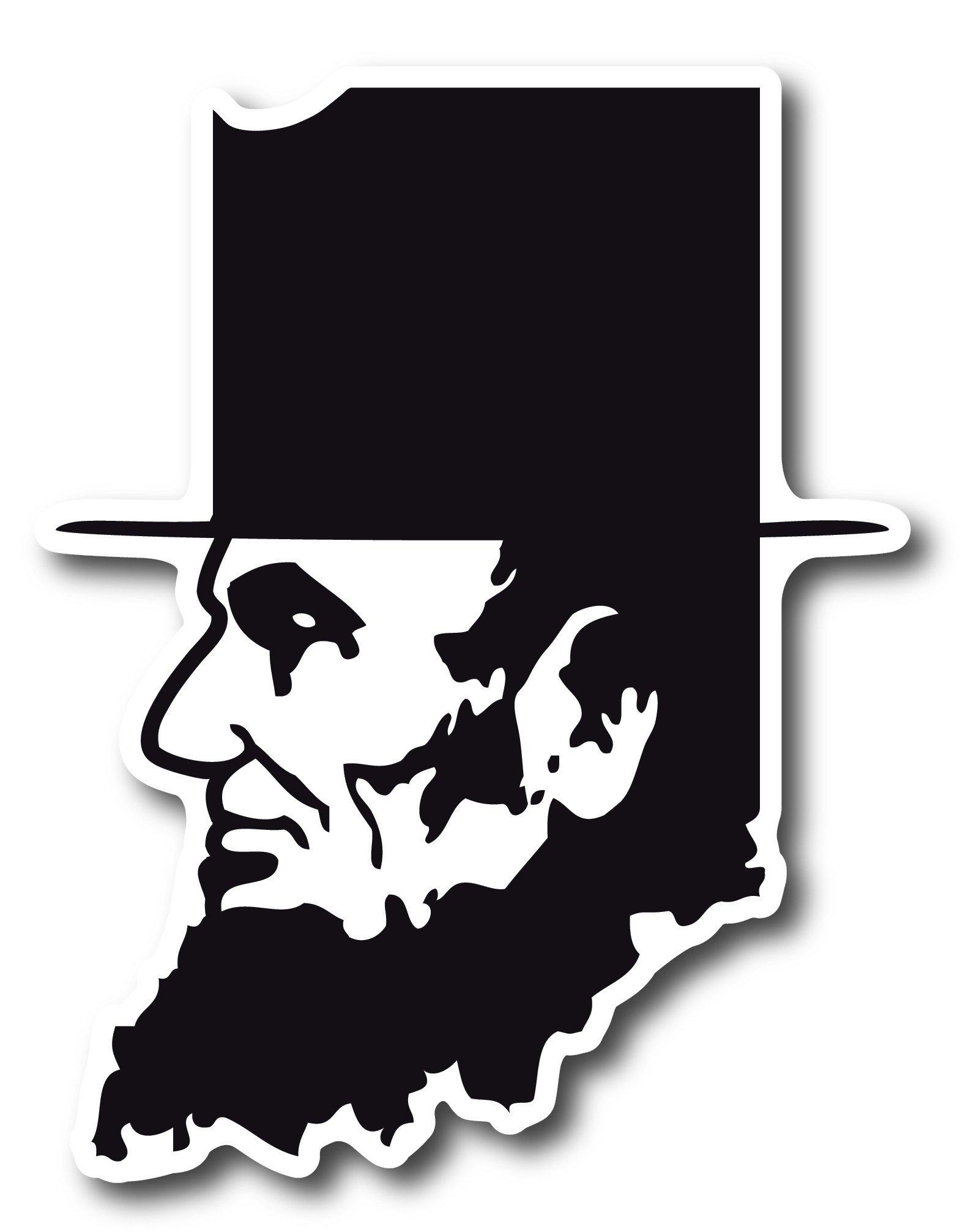 1569x2013 Abe Lincoln Indiana Sticker Hoosier Proud