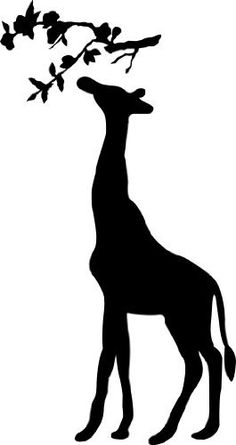 236x445 Giraffe Silhouette Clipart
