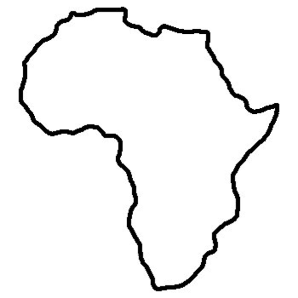 600x600 World Africa Outline Free Images