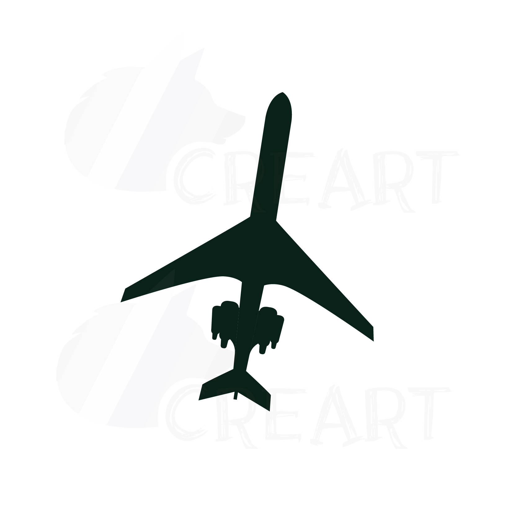 1667x1667 Airplane Silhouette Pack, Airplane Clipart. Eps, Png, Jpg, Pdf