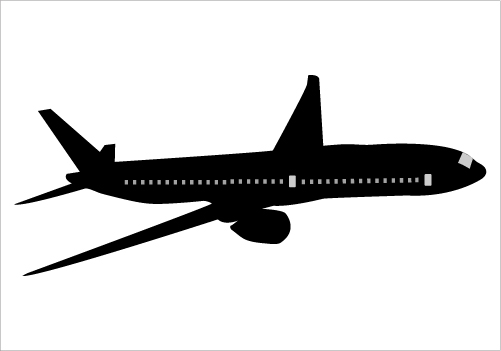 501x351 Boeing 777 Silhouette Vector Illustration Flying In The Sky