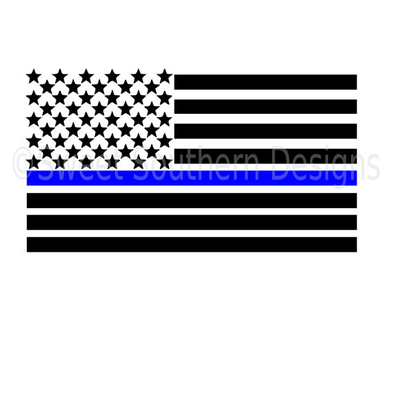 570x570 American Flag Thin Blue Line With Heart Svg Instant Download