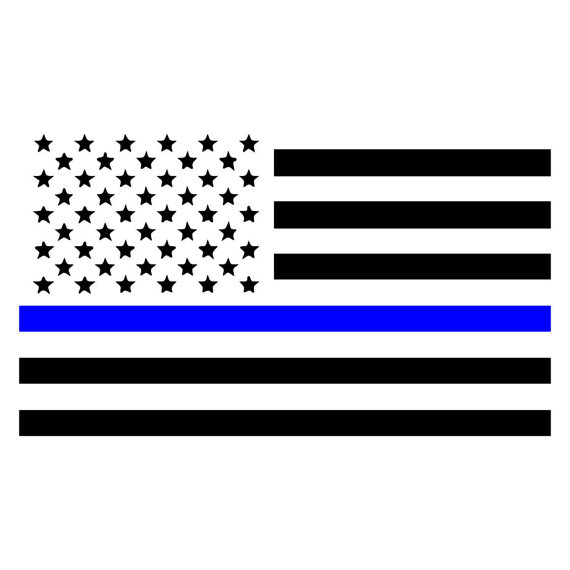 570x570 Thin Blue Line American Flag, Law Enforcement Car, Window, Wall
