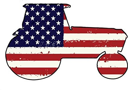 425x300 Tractor Vinyl Decal Sticker