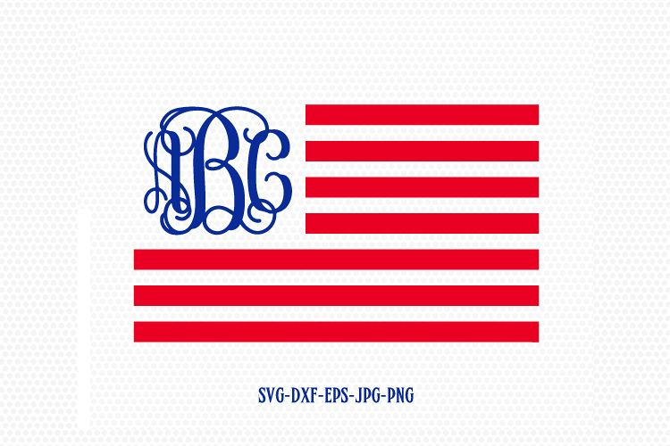 750x500 Usa Flag Monogram Svg, American Flag Sv Design Bundles