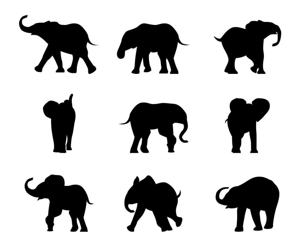 1136x936 Baby Elephant Silhouette Vector Art Amp Graphics
