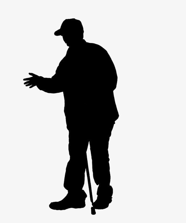 650x781 Silhouette Of Hand Crutches Elderly, Crutches Elderly, Old People