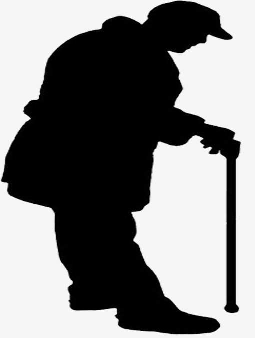 510x675 Silhouette Of Lonely Old Man, Lonely, The Elderly, Figure Png