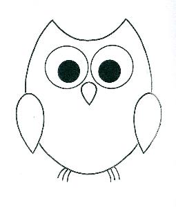 255x300 Drawn Owl Outline