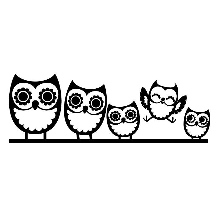 700x700 Free Owl Clipart Black And White Image