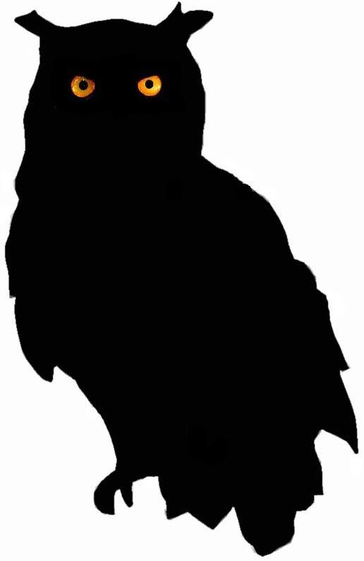 516x794 Owl Silhouette Owl Silhouette Owls Printable Art