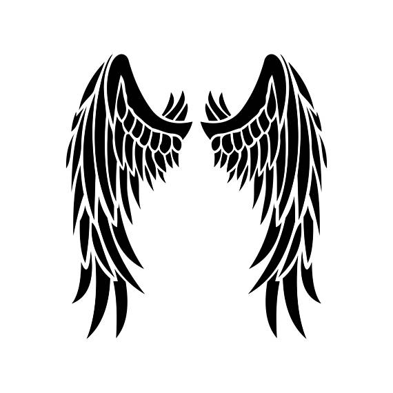 570x570 Angel Wings Graphics Svg Dxf Eps Png Cdr Ai Pdf Vector Art