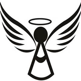 268x268 Angel Wings And Halo Silhouette Tattoo Angel Wings