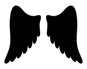 340x270 Angel Wings Stencils Etsy