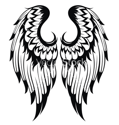 380x400 Angel Wings Vector Silhouettes Angel Wings, Angel