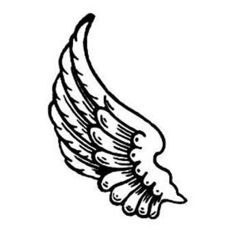 350x350 Tribal Angel Wings Clip Art