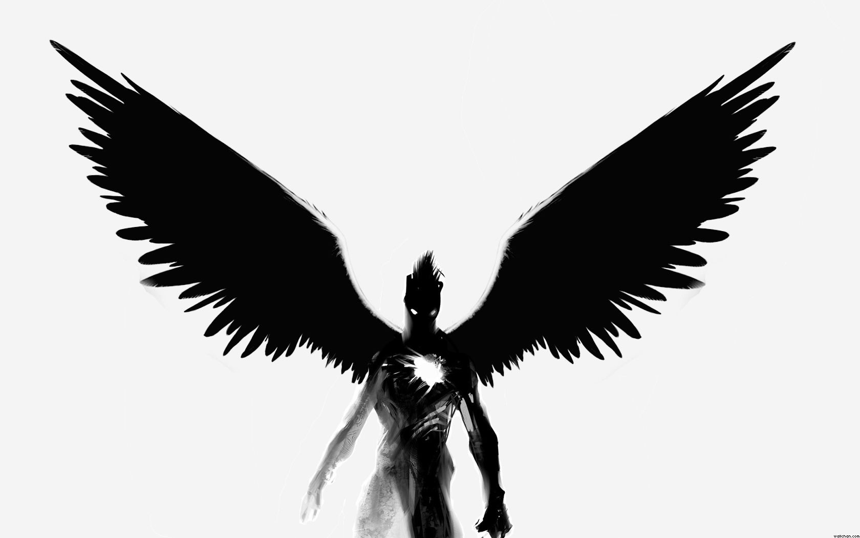 1680x1050 Wings Clipart Black Angel