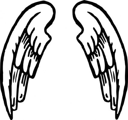 425x396 Angel Wing Clip Art Download 632 Clip Arts
