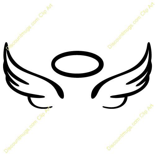 500x500 Angel Wings Nursery Baby Silhouette Clipart Vector