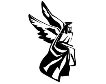 340x270 Angels Decal. Tribal Angels Sticker. Beautiful Group