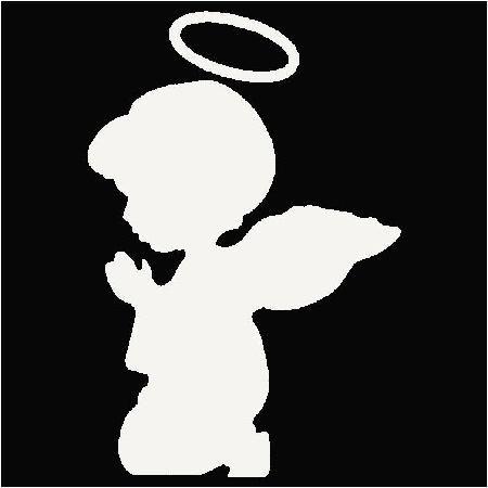 450x450 Praying Angel Silhouette Clip Art