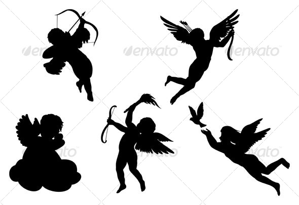 590x406 Angels Silhouettes By Namistudio Graphicriver