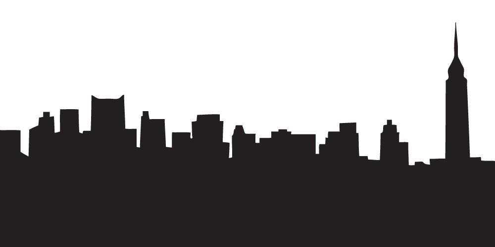 1000x500 Free Silhouette Skyline, Hanslodge Clip Art Collection