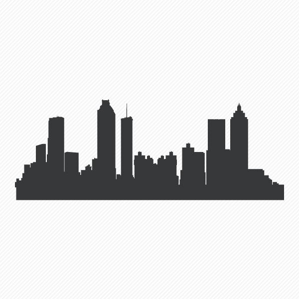 600x600 Atlanta Skyline Wall Art Atlanta Skyline Wall Decal Wallums