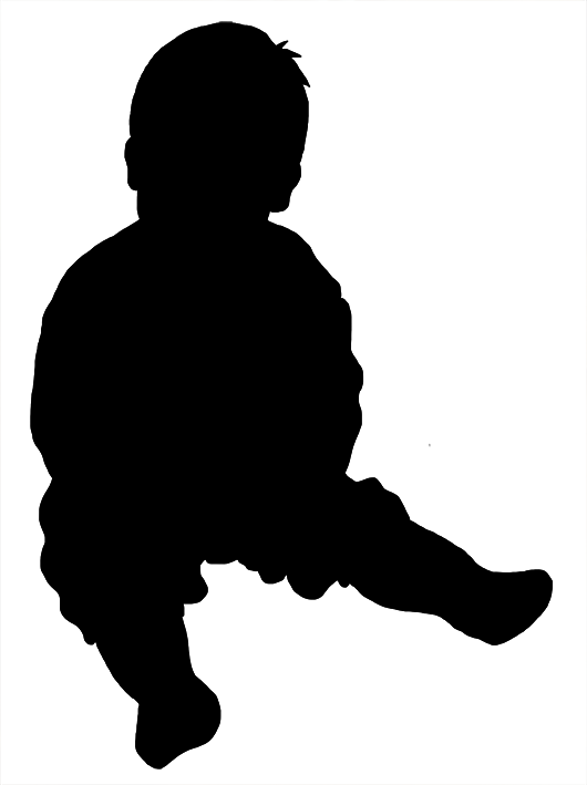 530x709 Silhouette Of Baby Sitting Church Ideas Baby