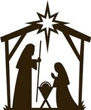 Silhouette Of Baby Jesus In Manger