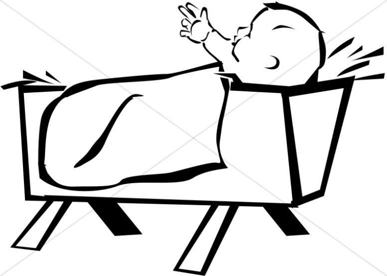 776x553 Baby Jesus Born In A Manger Baby Jesus Clipart