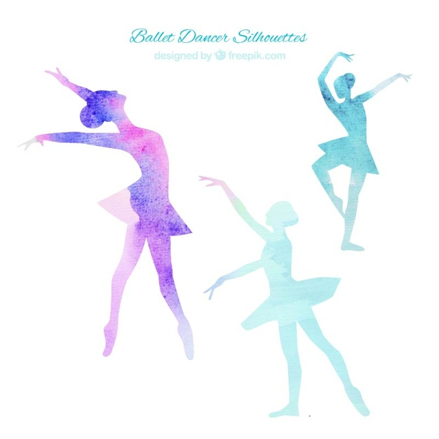 626x626 Ballet Dancers Silhouettes Vector Free Download