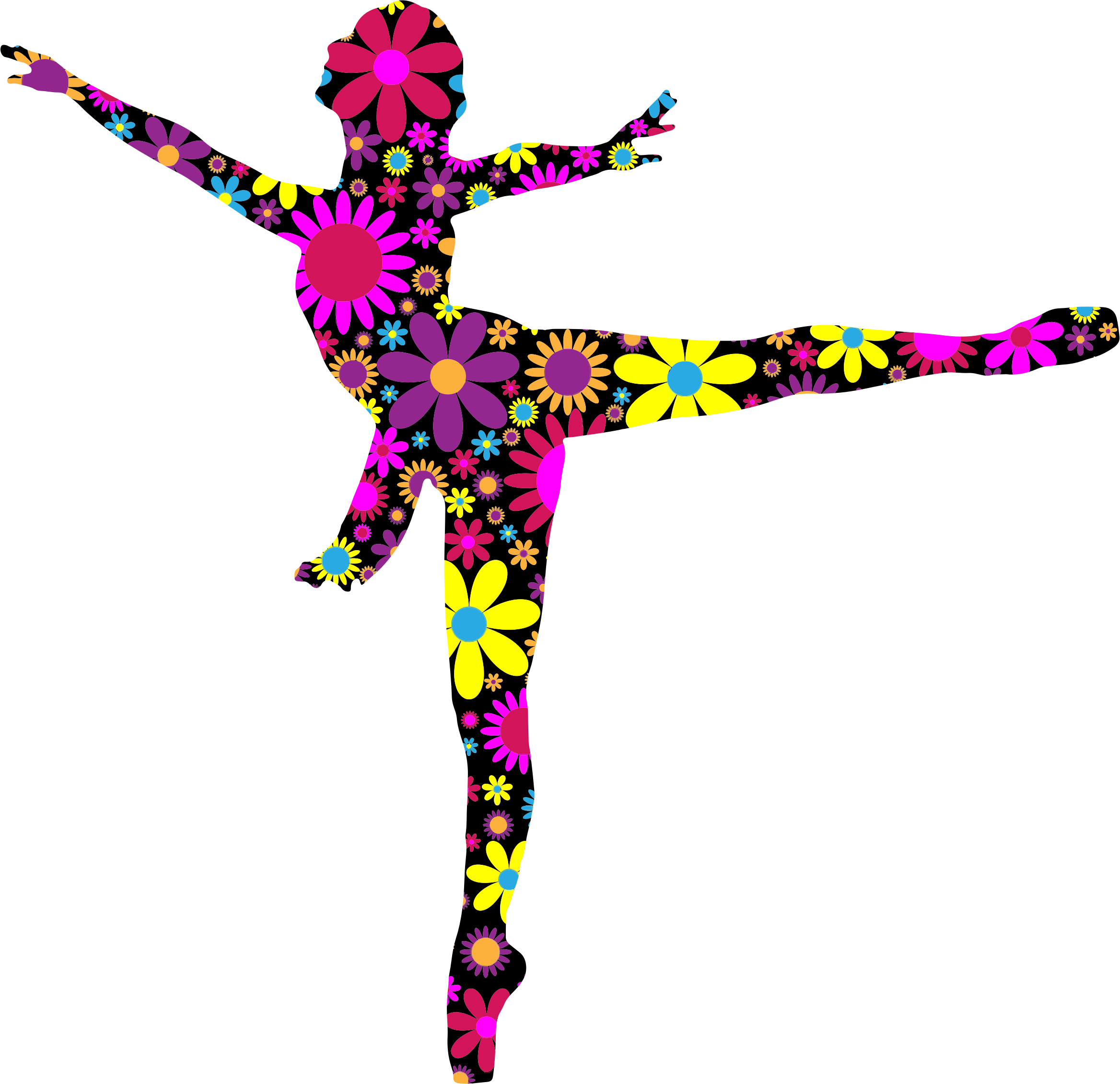 2336x2260 Floral Ballet Dancer Silhouette Icons Png