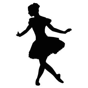 283x283 Ballet Dancer Silhouette Silhouette Of Ballet Dancer