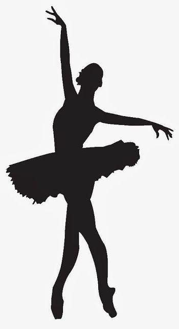 350x640 Siluetas De Balletistas Y Bailarinas. Bailarina