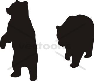 320x276 Bear Silhouette Standing Walking