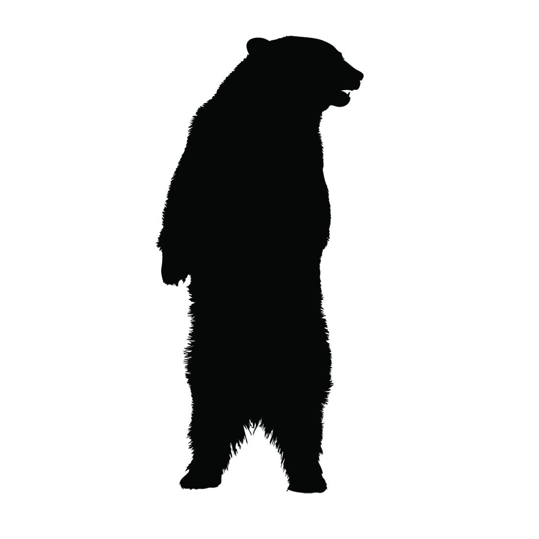 1100x1100 Bear Standing Silhouette Stencil Free Stencil Gallery