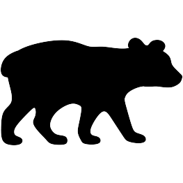 263x262 Bear Cub Silhouette Cricut Silhouette, Bears