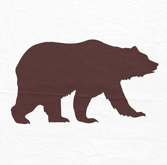 570x564 Bear Svg Bear Silhouette Bear Monogram Svg Svg Files