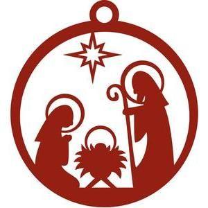 300x300 Silhouette Design Store Star Of Bethlehem Ornament Ramki